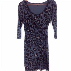 Ann Taylor Petite Animal Print Dress Sz SP Womans